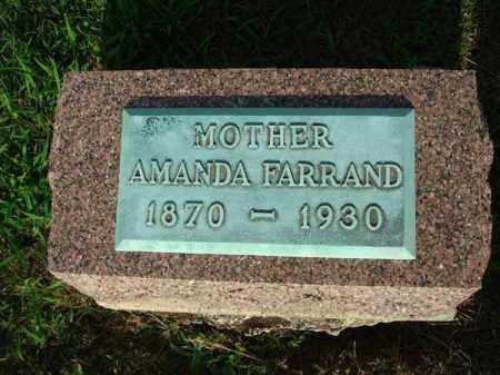 FARRAND, AMANDA - Fairfield County, Ohio   AMANDA FARRAND - Ohio Gravestone Photos