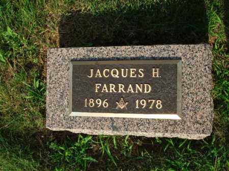 FARRAND, JACQUES H. - Fairfield County, Ohio | JACQUES H. FARRAND - Ohio Gravestone Photos