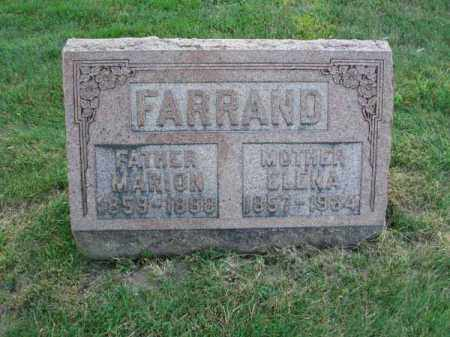 FARRAND, ELENA - Fairfield County, Ohio | ELENA FARRAND - Ohio Gravestone Photos