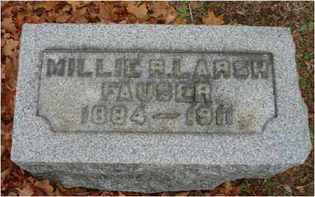 FAUSER, MILLIE R. - Fairfield County, Ohio | MILLIE R. FAUSER - Ohio Gravestone Photos
