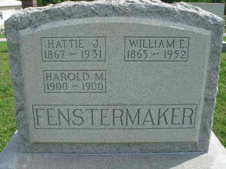 FENSTERMAKER, HAROLD M. - Fairfield County, Ohio | HAROLD M. FENSTERMAKER - Ohio Gravestone Photos