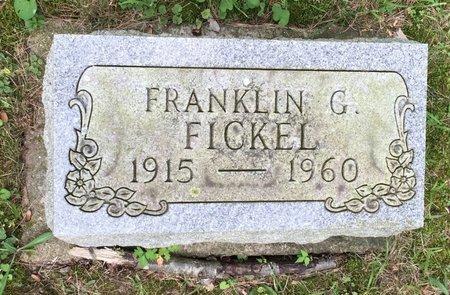 FICKEL, FRANKLIN G. - Fairfield County, Ohio   FRANKLIN G. FICKEL - Ohio Gravestone Photos