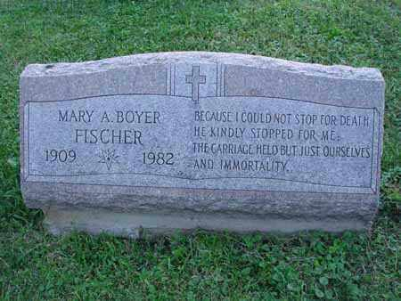 FISCHER, MARY A. - Fairfield County, Ohio | MARY A. FISCHER - Ohio Gravestone Photos