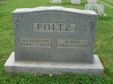 FOLTZ, JENNIE - Fairfield County, Ohio | JENNIE FOLTZ - Ohio Gravestone Photos
