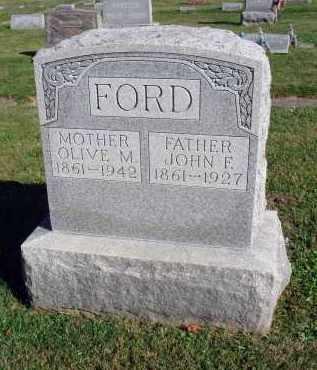 FORD, JOHN F. - Fairfield County, Ohio | JOHN F. FORD - Ohio Gravestone Photos