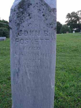 FOSKETT, JOHN R. - Fairfield County, Ohio | JOHN R. FOSKETT - Ohio Gravestone Photos