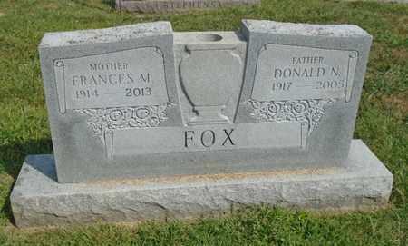 FOX, FRANCES M. - Fairfield County, Ohio | FRANCES M. FOX - Ohio Gravestone Photos