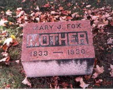 FOX, MARY J. - Fairfield County, Ohio | MARY J. FOX - Ohio Gravestone Photos