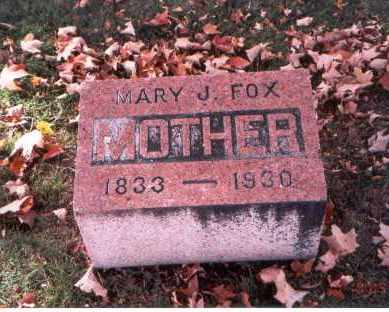 DAVIDSON FOX, MARY J. - Fairfield County, Ohio | MARY J. DAVIDSON FOX - Ohio Gravestone Photos