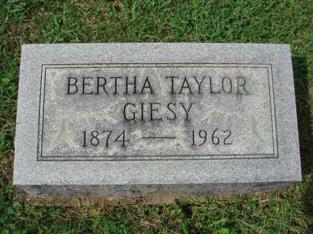 GIESY, BERTHA - Fairfield County, Ohio | BERTHA GIESY - Ohio Gravestone Photos