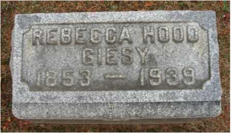 HOOD GIESY, REBECCA - Fairfield County, Ohio | REBECCA HOOD GIESY - Ohio Gravestone Photos