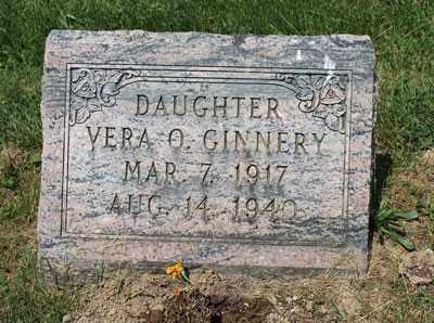 GINNERY, VERA - Fairfield County, Ohio | VERA GINNERY - Ohio Gravestone Photos