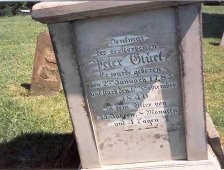 GLICK, PETER - Fairfield County, Ohio | PETER GLICK - Ohio Gravestone Photos