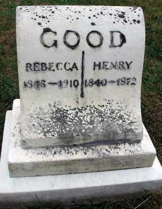 GOOD, HENRY - Fairfield County, Ohio   HENRY GOOD - Ohio Gravestone Photos
