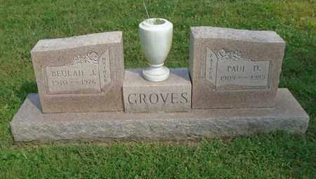 GROVES, BEULAH J. - Fairfield County, Ohio   BEULAH J. GROVES - Ohio Gravestone Photos