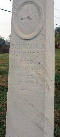 GROVES, BARBARA A. - Fairfield County, Ohio | BARBARA A. GROVES - Ohio Gravestone Photos