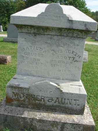 SCOTT, ELIZABETH - Fairfield County, Ohio   ELIZABETH SCOTT - Ohio Gravestone Photos
