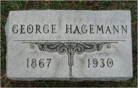 HAGEMANN, GEORGE - Fairfield County, Ohio | GEORGE HAGEMANN - Ohio Gravestone Photos
