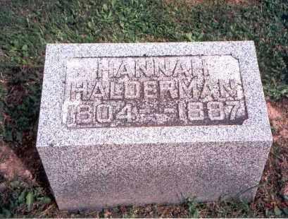 SCHLEICH HALDERMAN, HANNAH - Fairfield County, Ohio | HANNAH SCHLEICH HALDERMAN - Ohio Gravestone Photos