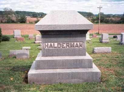 HALDERMAN, MONUMENT - Fairfield County, Ohio   MONUMENT HALDERMAN - Ohio Gravestone Photos