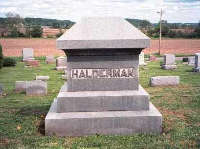 HALDERMAN, MONUMENT - Fairfield County, Ohio | MONUMENT HALDERMAN - Ohio Gravestone Photos