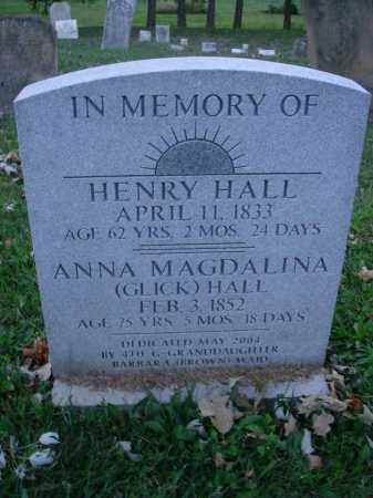 GLICK HALL, ANNA MAGDALENA - Fairfield County, Ohio | ANNA MAGDALENA GLICK HALL - Ohio Gravestone Photos