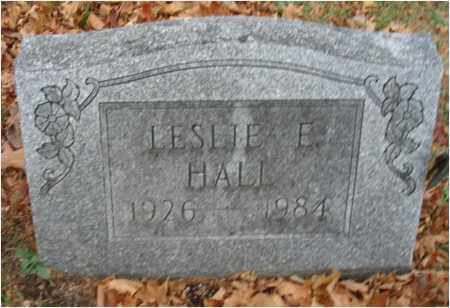HALL, LESLIE E. - Fairfield County, Ohio | LESLIE E. HALL - Ohio Gravestone Photos