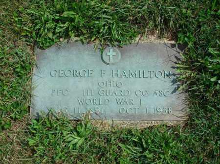 HAMILTON, GEORGE F. - Fairfield County, Ohio   GEORGE F. HAMILTON - Ohio Gravestone Photos