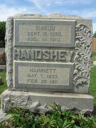 HANDSHEY, HARRIETT - Fairfield County, Ohio | HARRIETT HANDSHEY - Ohio Gravestone Photos