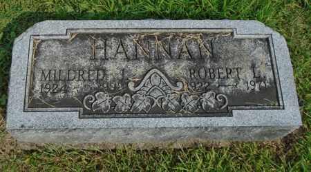 HANNAN, ROBERT L. - Fairfield County, Ohio | ROBERT L. HANNAN - Ohio Gravestone Photos