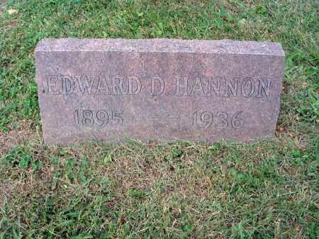 HANNON, EDWARD D. - Fairfield County, Ohio   EDWARD D. HANNON - Ohio Gravestone Photos