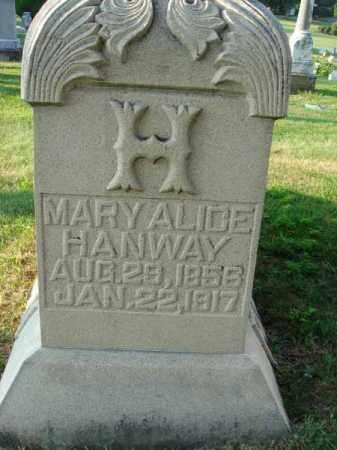 HANWAY, MARY ALICE - Fairfield County, Ohio | MARY ALICE HANWAY - Ohio Gravestone Photos