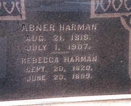 HARMAN, REBECCA - Fairfield County, Ohio | REBECCA HARMAN - Ohio Gravestone Photos