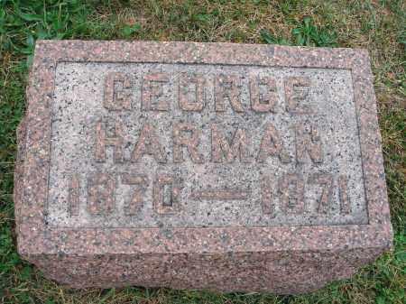 HARMAN, GEORGE - Fairfield County, Ohio | GEORGE HARMAN - Ohio Gravestone Photos