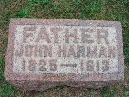 HARMAN, JOHN - Fairfield County, Ohio | JOHN HARMAN - Ohio Gravestone Photos