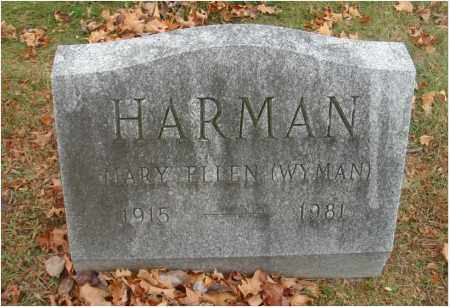 HARMAN, MARY ELLEN - Fairfield County, Ohio | MARY ELLEN HARMAN - Ohio Gravestone Photos
