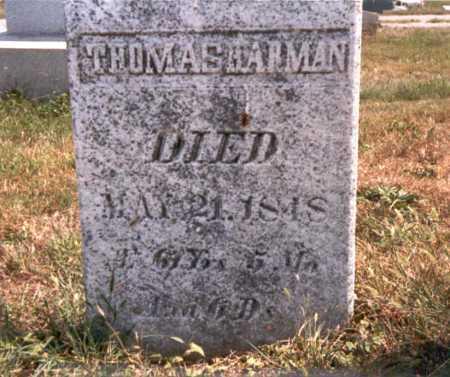 HARMAN, THOMAS - Fairfield County, Ohio | THOMAS HARMAN - Ohio Gravestone Photos