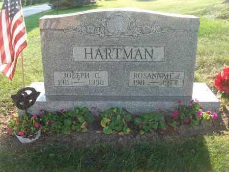 HARTMAN, ROSANNAH J. - Fairfield County, Ohio   ROSANNAH J. HARTMAN - Ohio Gravestone Photos