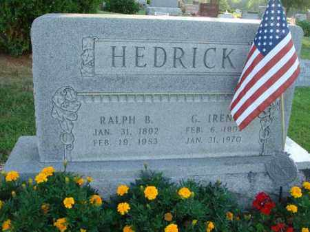 HEDRICK, G. IRENE - Fairfield County, Ohio | G. IRENE HEDRICK - Ohio Gravestone Photos
