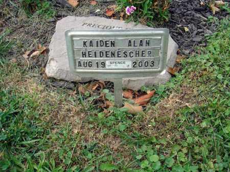 HEIDENESCHER, KAIDEN ALAN - Fairfield County, Ohio | KAIDEN ALAN HEIDENESCHER - Ohio Gravestone Photos