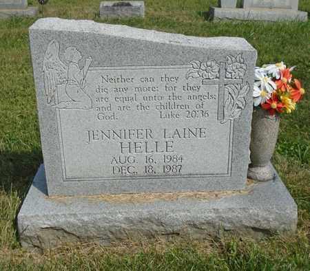 HELLE, JENNIFER LAINE - Fairfield County, Ohio | JENNIFER LAINE HELLE - Ohio Gravestone Photos