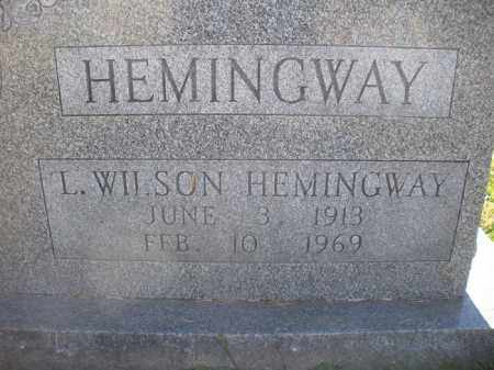 HEMINGWAY, L. WILSON - Fairfield County, Ohio   L. WILSON HEMINGWAY - Ohio Gravestone Photos