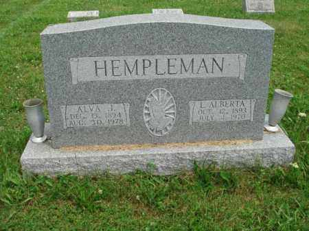 HEMPLEMAN, L. ALBERTA - Fairfield County, Ohio   L. ALBERTA HEMPLEMAN - Ohio Gravestone Photos