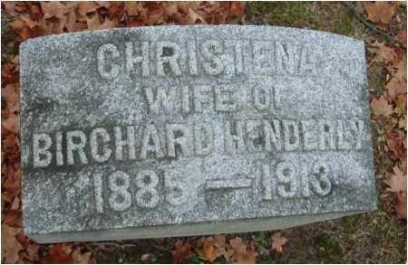 HENDERLEY, CHRISTENA - Fairfield County, Ohio   CHRISTENA HENDERLEY - Ohio Gravestone Photos