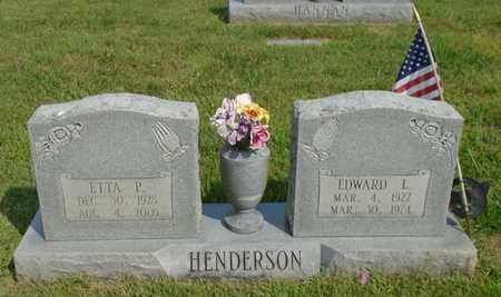 HENDERSON, EDWARD L. - Fairfield County, Ohio | EDWARD L. HENDERSON - Ohio Gravestone Photos