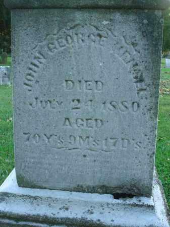 HENSEL, JOHN GEORGE - Fairfield County, Ohio | JOHN GEORGE HENSEL - Ohio Gravestone Photos