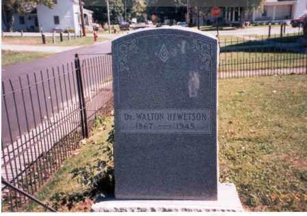 HEWETSON, DR. WALTON - Fairfield County, Ohio   DR. WALTON HEWETSON - Ohio Gravestone Photos