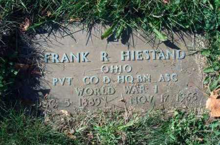 HIESTAND, FRANK R. - Fairfield County, Ohio | FRANK R. HIESTAND - Ohio Gravestone Photos