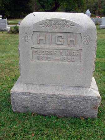 HIGH, GEORGE T. - Fairfield County, Ohio   GEORGE T. HIGH - Ohio Gravestone Photos