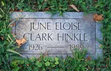 HINKLE, JUNE ELOISE - Fairfield County, Ohio   JUNE ELOISE HINKLE - Ohio Gravestone Photos